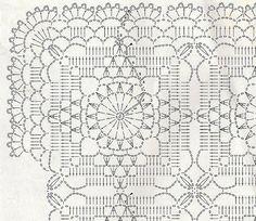 Piggy patterns - openwork square crocheted