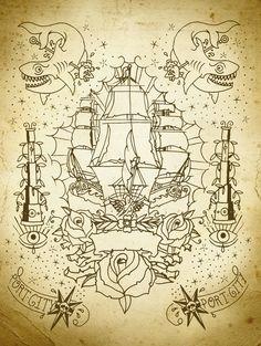 Nautical Flash by Luke Worley, via Behance