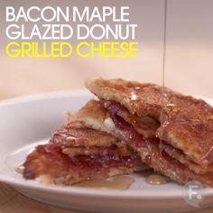Bacon Maple Glazed Donut Grilled Cheese                                                                                                                                                                                 More
