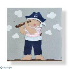 Cuadro infantil personalizado: Niño pirata (ref. 12008-01)