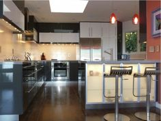 Kitchen: Kitchen Glossy Ikea Kitchen Backsplash White Cabinet Design Red Accent Pendant Lighting Tiny Under Cabinet Lighting Dark Brown Tiles Floor Comfortable Bar Stools Collections Of Awesome: Collections Of Awesome IKEA Kitchen Designs With Cool Decoration