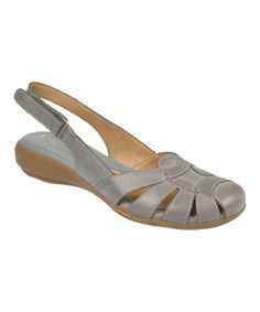 Love this Spring Denim Cyrus Leather Slingback by Naturalizer on #zulily! #zulilyfinds