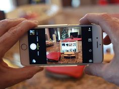 iPhone 6 and 6 Plus- Helpful tips and trick: How to capture photos using the volume keys Snapping photos using the volume button is as easy as it sounds. With the Camera app open, simply press either the volume up or down button housed on the left-hand side of the smartphone. The process even works when using a pair of headphones featuring an inline remote and volume keys.