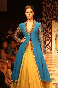 Lovely color combination of anarkali