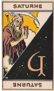 Cartas do Destino: Destino e Tarô: Tarot Astrologique - A Carta Satur...