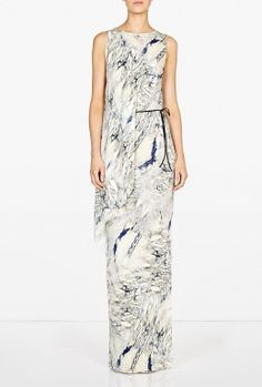 Oh my, this dress. Magdalena Marbled Draped Dress by Dagmar