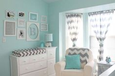 Gender neutral nursery idea! LOVE THIS we don't have to repaint the room !!!