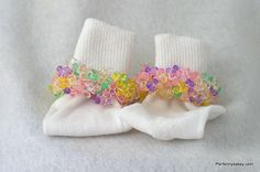 Baby Girls Beaded Socks...Multi Color....Girlie Girl