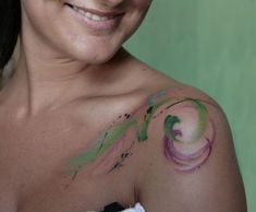 Watercolor Tattoo.