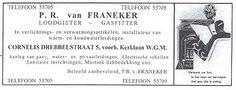 Geheugen van Oost - Loodgieter-Gasfitter Van Franeker