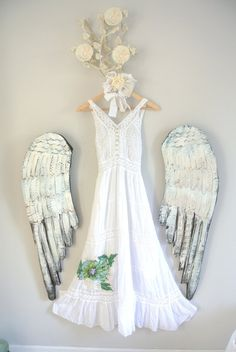 Maxi dress boho summer dresses white shabby by TrueRebelClothing, $72.00