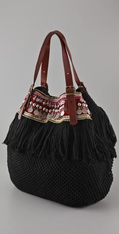 I like this turn on a black purse, cool buckle handles as well. At this is inspo only but it's something I could do with all those pieces of Indian embroidery and dangling thing More Bag, Bohobags 60 Unusual Attractive Handbags to Enhance Your Personalit Crochet Handbags, Crochet Bags, Sacs Tote Bags, Ethnic Bag, Boho Bags, Fabric Bags, Black Purses, Mode Inspiration, Mode Style