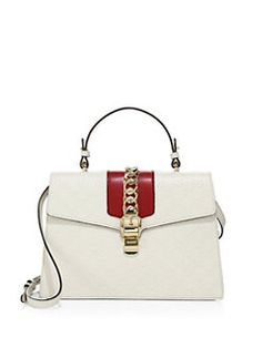 830a2b6578ee Gucci - Sylvie Medium GG Leather Top-Handle Satchel Gucci Sylvie