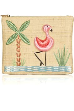 where's my charlotte olympia flamingo raffia clutch the limo's already here and i'm ready to go to vegas now