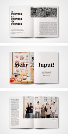 """loslegen"" magazine by MORPHORIA DESIGN COLLECTIVE, via Behance  Cursos y mas en: http://linformatik.es/blog/category/cursos/?lang=es"