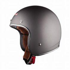 LS2 OF583 Bobber Solid Matte Titanium Open Face Helmet - LeatherUp.com