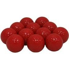 Blank Colored Golf Balls - Red by Unknown. $11.95. Colored Golf Balls - Golfballs.com offers blank golf balls in a variety of colors. Choose from red golf balls, blue golf balls, orange golf balls, pink golf balls, yellow golf balls, green golf balls; Golfballs.com offers you the most color golf ball options on the market! These blank colored golf balls are 2-piece construction with a Surlyn® cover. The colored golf balls do not have a name brand printed as they are ...