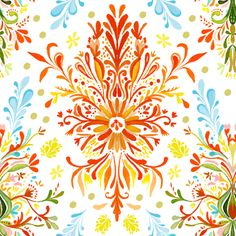 colorful damask