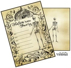 Free Halloween Party Invitation...Includes an optional back side to the invitations if you'd like to print them double sides. Or just leave your back blank to write directions or additional information for guests.