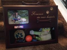 Personalized memorial urn for pets. Memorial Urns, Pet Urns, Pet Memorials, Memories, Pets, Frame, Home Decor, Memoirs, Picture Frame