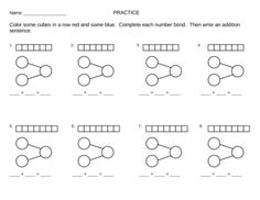 Subtraction with Number Bonds -Singapore Math Worksheet