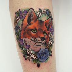 Fox tattoo Georgina liliane Southampton