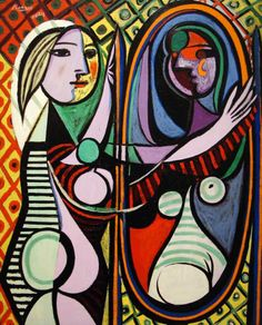 "Pablo Picasso - Girl Before A Mirror - 1932 ""Art is a lie that makes us realize the truth"" - Pablo Picasso"