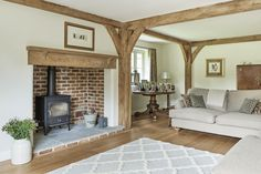 frames and borders Manor Houses - Border Oak - oak framed houses, oak framed garages and structures. Cottage Living Rooms, Cottage Interiors, Cottage Homes, Home Living Room, Living Room Designs, Living Room Decor, Bedroom Decor, Log Burner Living Room, Living Room With Fireplace