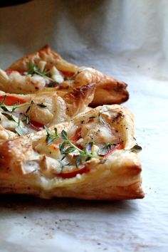Goat Cheese and Tomato Pastry Triangles