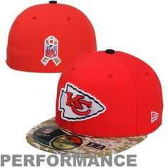 New Era Kansas City Chiefs Salute To Service On-Field 59FIFTY Fitted Performance Hat - Red/Digital Camo