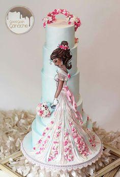 :) Pastel de Boda Pastel con vestido de novia   Más en https://lomejordelaweb.es/