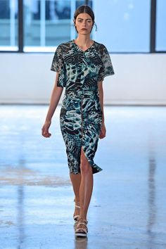 Ginger & Smart Ready-To-Wear S/S gallery - gorgeous teal, black & white printed dress Ginger And Smart, Vogue Australia, Spring Summer Fashion, Ready To Wear, Teal, Style Inspiration, Shirt Dress, Black And White, Casual