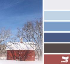 snowy hues