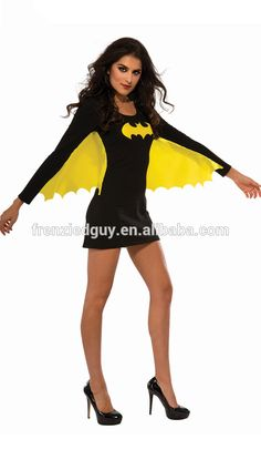 New arrival women tight black fancy party bat man costume FGWC-0124