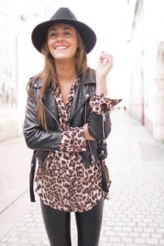 Chemise TANIA LEOPARD #chemise #leopard #imprimé #mode #prettywire Animal Print Blouse, All Black Everything, Everyday Look, Casual Outfits, Dressing, Hipster, Style Inspiration, Urban Chic, Winter Time