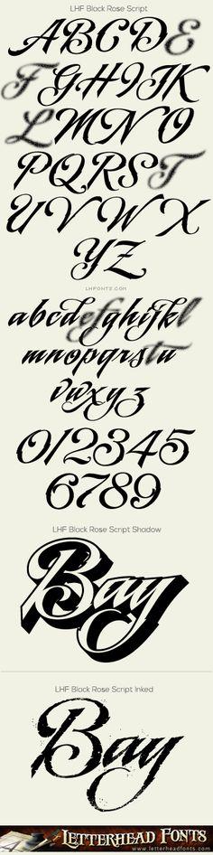 Letterhead Fonts / LHF Black Rose Script font set / Hand-lettered Scripts
