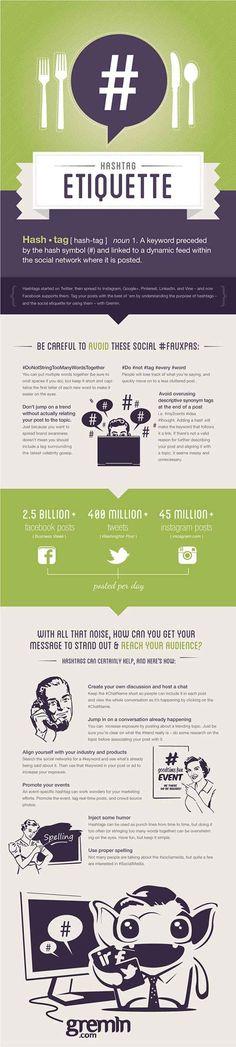 Hashtag Etiquette #infographic