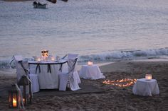 Wedding Candle light dinner on the beach in Lefkos, Karpathos, Greece