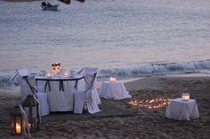 Wedding Candle light dinner on the beach in Lefkos, Karpathos, Greece