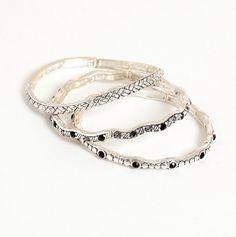Set of 3 Stretch Bangle Bracelets