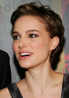 Natalie Portman can wear a retro- pixie cut  make it so ultra-feminine... sophisticated!