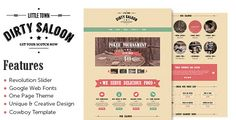 Review Dirty Saloon - A Rugged One Page Wordpress Themeyou will get best price offer lowest prices or diccount coupone
