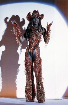 Trans model Connie Fleming in  Thierry Mugler 1992