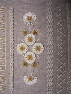 bead embroidery stitch samples - Google Search