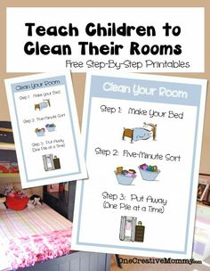 CLEAN YOUR ROOM. How to Teach Children to Clean Their Rooms Tired of nagging kids to clean their rooms? Your kids might be overwhelmed and not know where to start. Chores For Kids, Activities For Kids, Goal Setting Activities, Teaching Kids, Kids Learning, Casa Kids, How To Teach Kids, Raising Kids, My Children