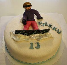 A girl on a snowboard cake by Nilla Hautasaari