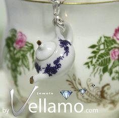 Delicate sterling silver teapot / coffee pot pendant by byVellamo, $20.00