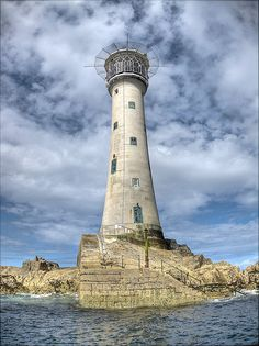 Les Hanois Lighthouse	Near Fort Grey 		Guernsey 	UK	49.433611,-2.700278    by Ningaloo, via Flickr