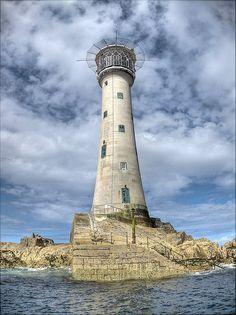 Les Hanois Lighthouse, Near Fort Grey, Guernsey, UK