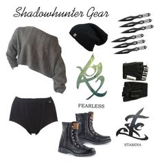 Shadowhunter  Gear by alicepardus on Polyvore featuring polyvore, fashion, style, Sloggi, Majesty Black and clothing